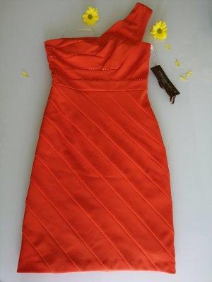 Carlo Pignatelli Damen Fest Abend Coctail Kleid orange bestickt Gr. 34