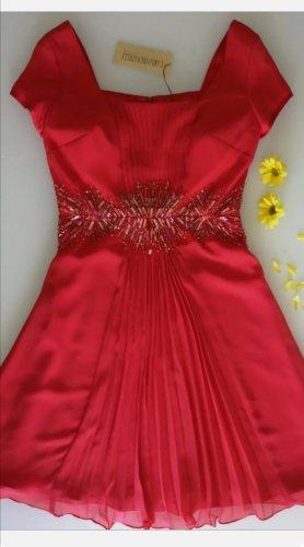 Carlo Pignatelli Damen Fest Abend Coctail Kleid Rot bestickt Gr. 34/36