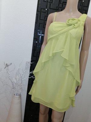 CARLO PIGNATELLI Robe de soirée jaune citron vert polyester