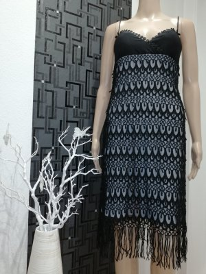 CARLO PIGNATELLI Fringed Dress black-dark blue polyester