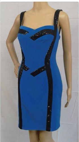 Carlo Pignatelli Luxus Pailletten Kleid Royalblau Gr. 38
