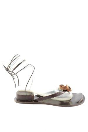 CARLOS PINEL Flip-Flop Sandals brown casual look