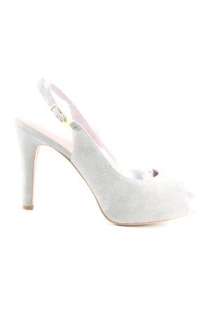 Carma Shoes High Heel Sandaletten hellgrau Casual-Look