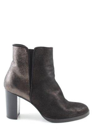 Carma Shoes Reißverschluss-Stiefeletten braun Casual-Look
