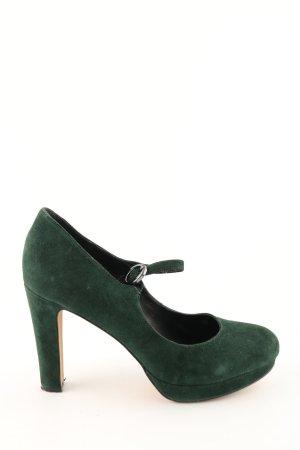Carma Shoes Riemchenpumps grün Business-Look