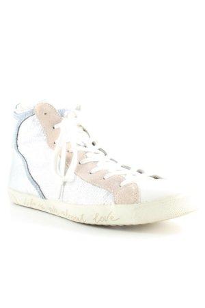 Carma Shoes Schnürschuhe Mustermix Glanz-Optik