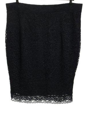 Carmakoma Falda de encaje negro elegante