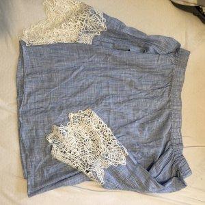 Only Carmen blouse wit-azuur