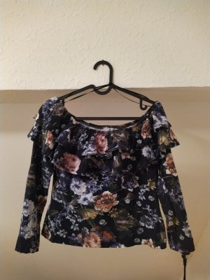 H&M Blusa alla Carmen multicolore