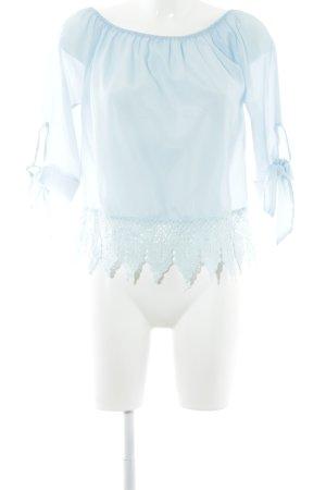 Carmen-Bluse babyblau Casual-Look