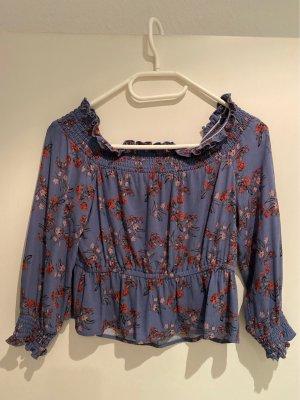 Carmen-Bluse, Blumenmuster