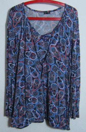 Carmen Bluse Größe 48/50 Paisley Print Blau