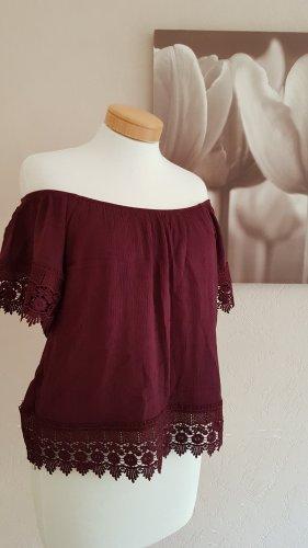 Pull & Bear Carmen Shirt carmine-bordeaux