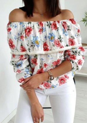 Bluzka typu carmen biały
