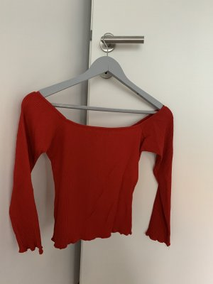 Bluzka typu carmen czerwony