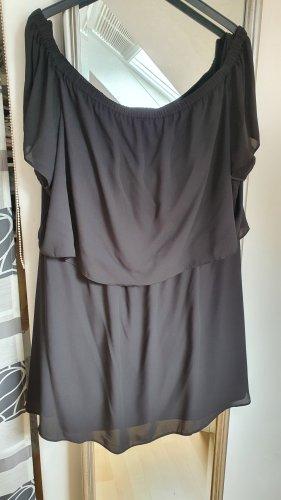 asos curve Off-The-Shoulder Dress black polyester