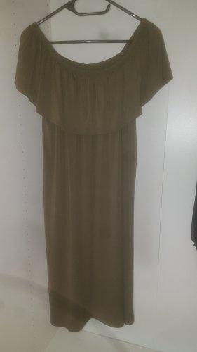 Bon Prix Sukienka na jedno ramię khaki