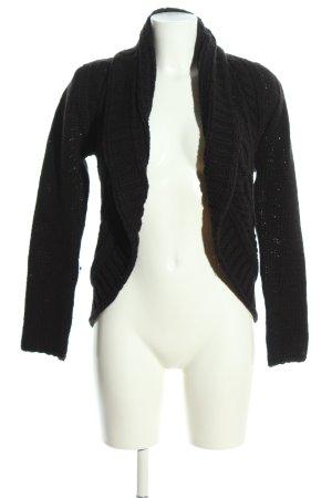 Carmen Marc Valvo Boléro en tricot noir torsades style décontracté