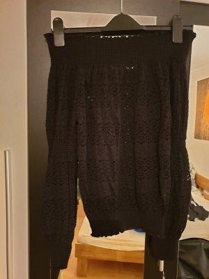 Zara Camisa tipo Carmen negro