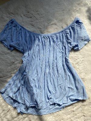 Koszula typu carmen błękitny