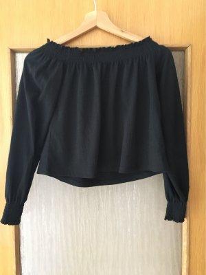 H&M Camisa tipo Carmen negro