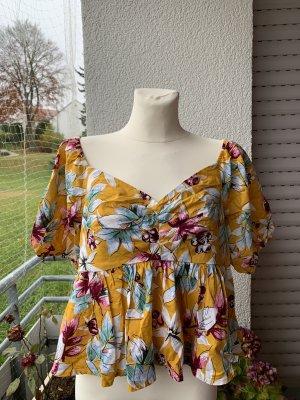 Camisa tipo Carmen amarillo