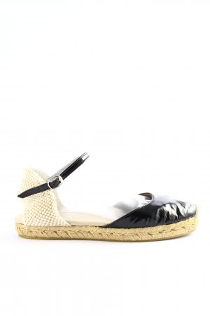 Carmen Saiz Espadrille Sandals black-white casual look