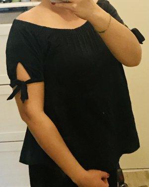H&M Koszula typu carmen ciemnoniebieski