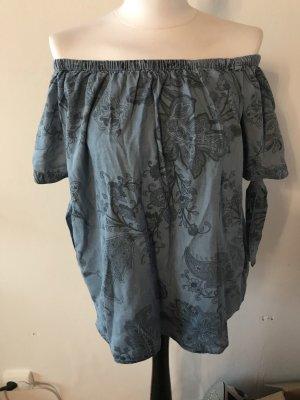 Colloseum Carmen shirt leigrijs-lichtblauw
