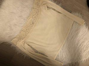 H&M Camisa tipo Carmen crema-beige