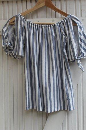 edc Koszula typu carmen niebieski-biały