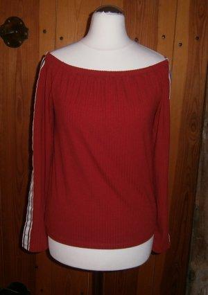 C&A Clockhouse Camisa tipo Carmen blanco-rojo oscuro