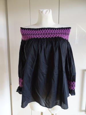 Maje Carmen Blouse black-violet mixture fibre