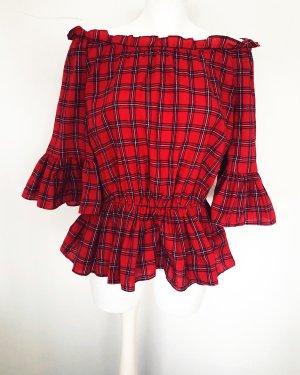 New Look Bluzka typu carmen czerwony neonowy Bawełna