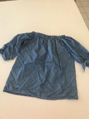 Colloseum Blusa alla Carmen azzurro