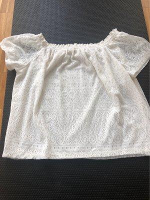 H&M Blouse Carmen blanc cassé