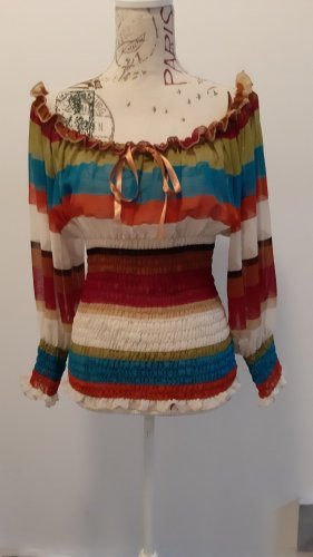 Blusa alla Carmen multicolore