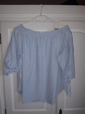 H&D Collection Blusa tipo Carmen azul claro