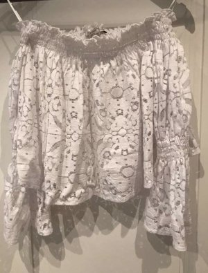 Zara Woman Blusa alla Carmen bianco