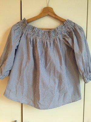 Primark Carmen blouse azuur-wit