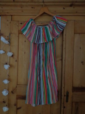 Made in Italy Robe épaules nues multicolore coton