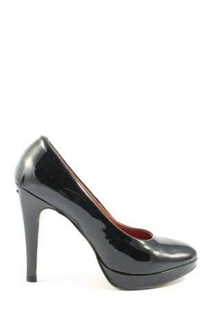 Carmens Chaussure à talons carrés noir style d'affaires
