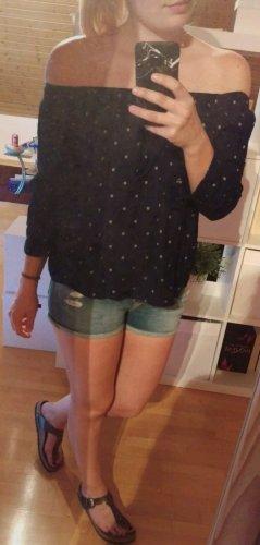 Vero Moda Camisa tipo Carmen blanco-azul oscuro