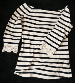 Mint&berry Koszula typu carmen biały-ciemnoniebieski
