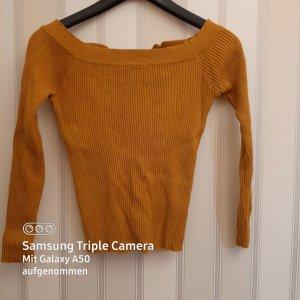 Bisou Bisou Koszula typu carmen jasny pomarańczowy