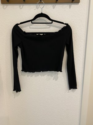 PrettyLittleThing Carmen shirt zwart