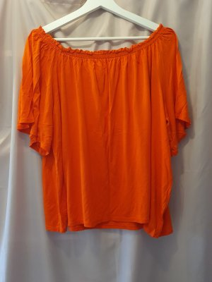 H&M Camisa tipo Carmen naranja