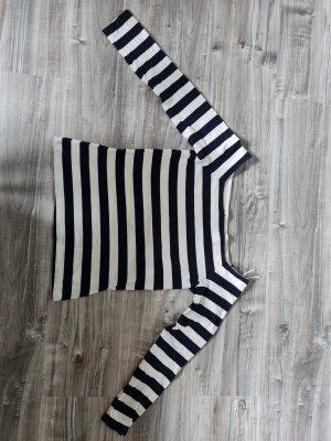 edc Koszula typu carmen biały-ciemnoniebieski