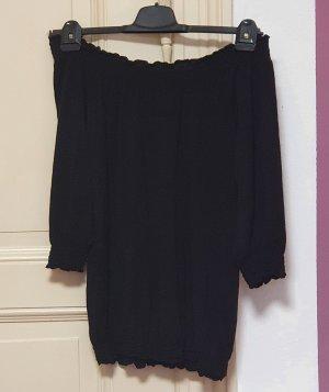 Zara Basic Koszula typu carmen czarny