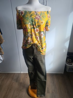Koszula typu carmen żółty